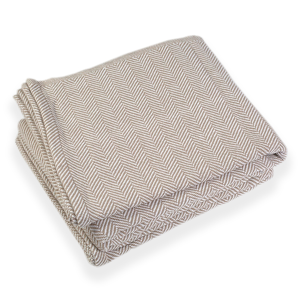 Cotton Penobscot Blanket by Brahms Mount