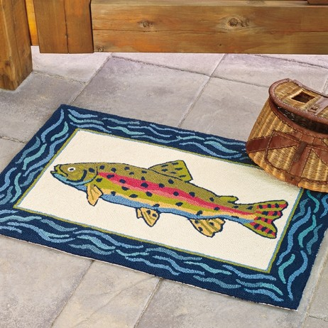 Rainbow Trout Rug By Company C