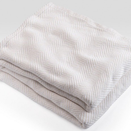Cotton Madison Blanket by Brahms Mount