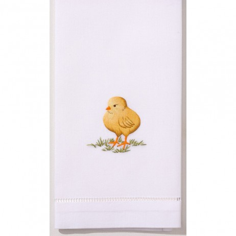 Chick Cotton Guest Towels (Set of 4) By Henry Handwork