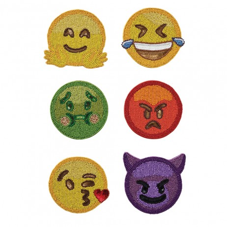 Emoji 2.0 Coasters (Set of 6) By Kim Seybert