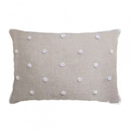 French Knot Embroidery Decorative Pillow by Ryan Studio