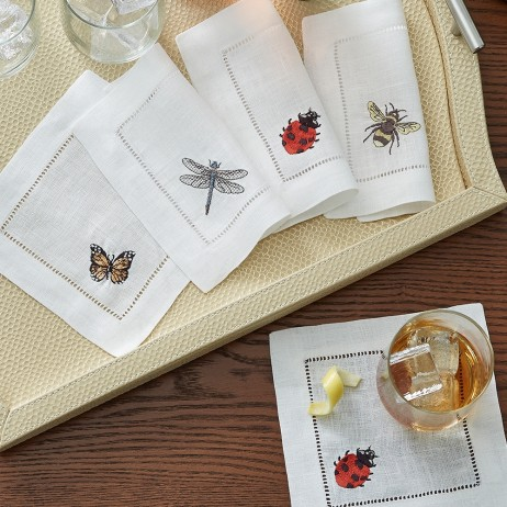 Insetti Cocktail Napkin By Sferra