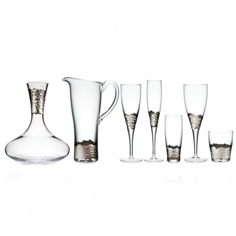 Paillette Glassware Platinum By Kim Seybert